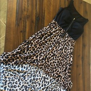 🖤 Leopard print size L high low dress 🖤